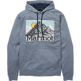 Marmot Mountain Peaks Pull à capuche Homme, dark indigo heather